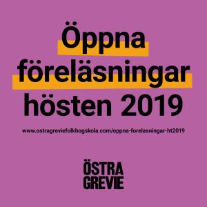 Föreläsningar hösten 2019