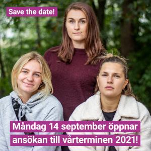 Ansökan till vt 2021 öppnar måndag 14 september